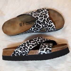 PAPILLIO BIRKENSTOCK cheetah print platform sandal